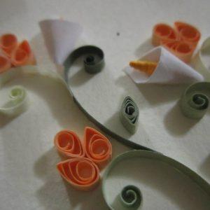Close-up colomba con fiori - www.quillingmesoftly.com