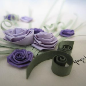 Close-up bouquet rose viola - www.quillingmesoftly.com