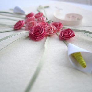 Close-up bouquet rose rosa - www.quillingmesoftly.com