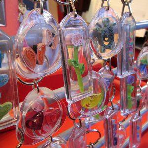 Portachiavi con inserto in quilling - www.quillingmesoftly.com