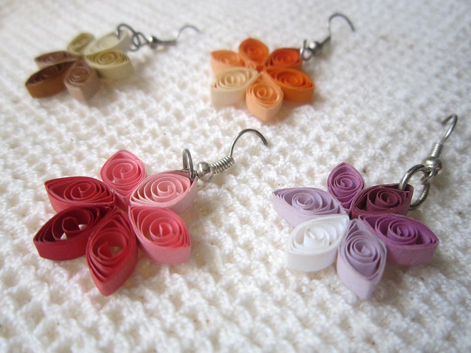 Quilling me softly - orecchini serie fiore