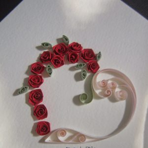 Cuore con rose rosse - www.quillingmesoftly.com