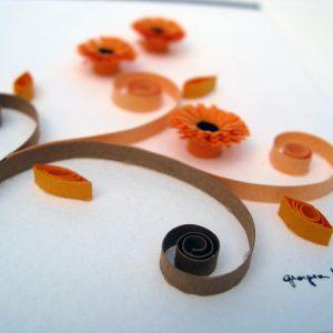 Close-up gerbere arancioni - www.quillingmesoftly.com