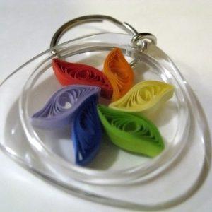 Portachiavi con girandola - www.quillingmesoftly.com