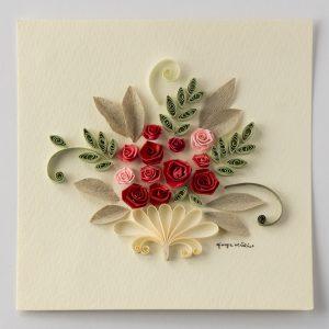Bouquet rose rosse e rosa - www.quillingmesoftly.com