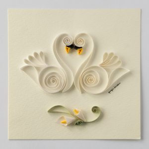 Cigni Bianchi - White Swans - www.quillingmesoftly.com