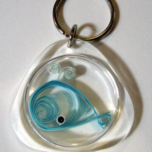 Portachiavi con balena - www.quillingmesoftly.com