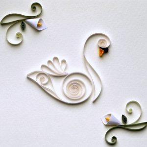 Cigno Bianco - White Swan - www.quillingmesoftly.com
