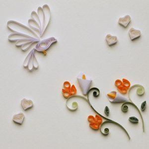 Colomba con fiori - www.quillingmesoftly.com