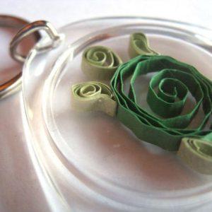 Portachiavi con tartaruga - www.quillingmesoftly.com