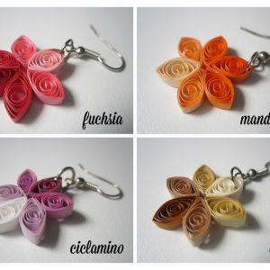 Quilling me softly - orecchini serie fiore - rosati